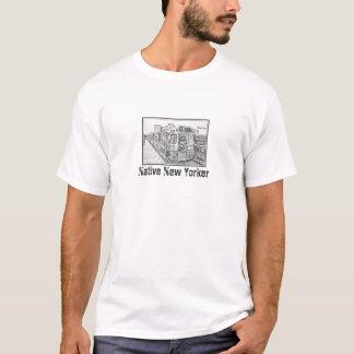 原産のニューヨーカー(地下鉄の版) MisterPのワイシャツ Tシャツ