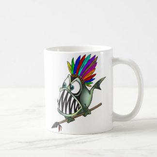 原産のピラニア コーヒーマグカップ