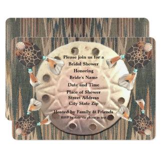原産の砂ドルのブライダルシャワー カード