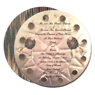原産の砂ドルの結婚式 カード