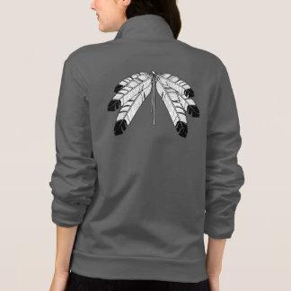 原産の芸術のジャケットの女性の種族の芸術のスポーツジャケット