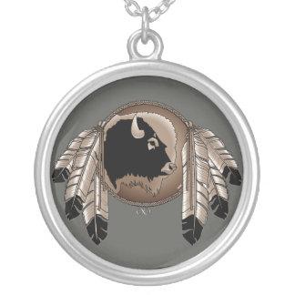 原産の芸術のネックレスの精神の動物のMetisのネックレス シルバープレートネックレス