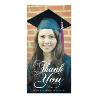 原稿の上敷の卒業の写真カードありがとう フォトカード