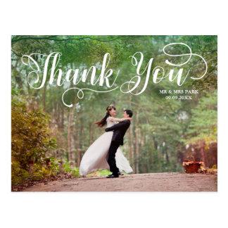 原稿の上敷の結婚式の写真は感謝していしています ポストカード