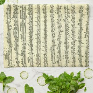 原稿の単独のバイオリンのためのBach Partita第3 キッチンタオル