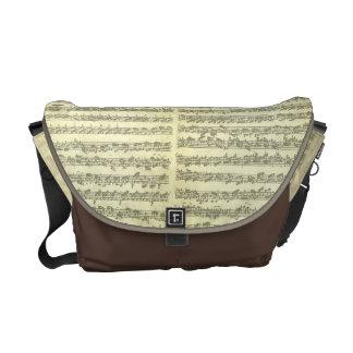 原稿の単独のバイオリンのためのBach Partita第3 メッセンジャーバッグ