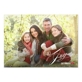 原稿の喜びの休日の写真カード カード