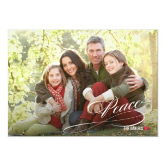 原稿の平和休日の写真カード カード