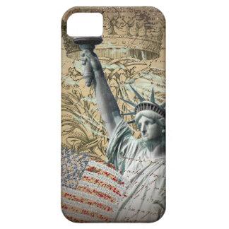 原稿の愛国心が強いニューヨークの自由の女神 iPhone SE/5/5s ケース