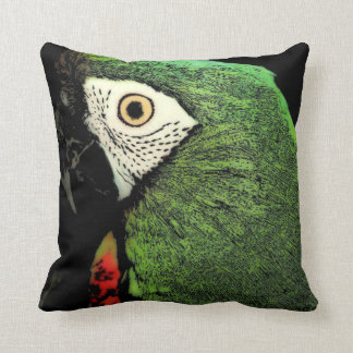 厳しいコンゴウインコのオウムの枕 クッション
