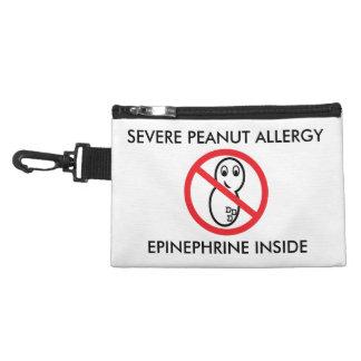 厳しいピーナツアレルギーの緊急時の袋 アクセサリーバッグ