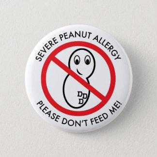 厳しいピーナツアレルギーボタン 5.7CM 丸型バッジ