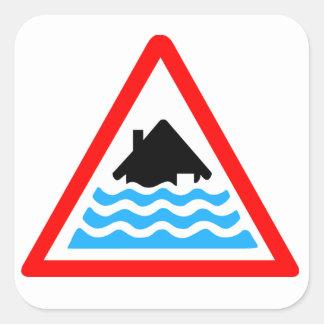 厳しい洪水の警告 スクエアシール