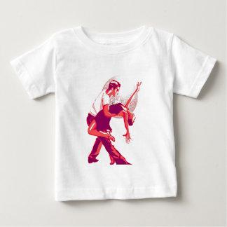 厳しくサルサの赤の陰 ベビーTシャツ