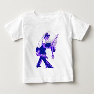 厳しくサルサの青の陰 ベビーTシャツ
