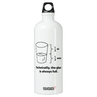 厳密には、ガラスは完全常にです ウォーターボトル