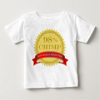厳選されたな98%のチンパンジー-自然に ベビーTシャツ