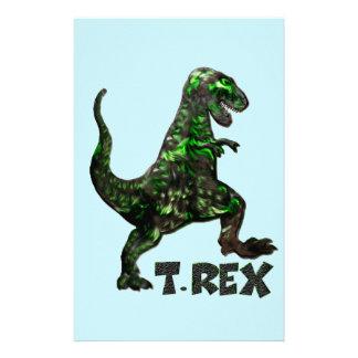 厳選されたなTのレックスの恐竜の多数プロダクト 便箋