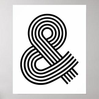 及びおよび印のアンパーサンドの表語文字の記号アイコン近道 ポスター