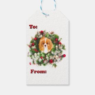 : 及びから: チャールズWreath Gift Tags無頓着な王 ギフトタグ
