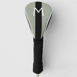 及びストライプな黒単に着色します + あなたのモノグラム ゴルフヘッドカバー