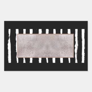 及びスパンコールの長方形のステッカー縞で飾ります 長方形シール