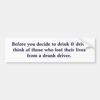 及び飲むことにする前にドライブはthoの…考えます バンパーステッカー