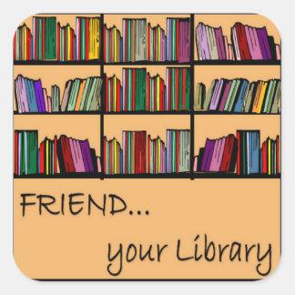 友人あなたの図書館 スクエアシール