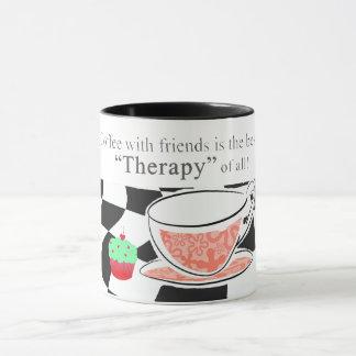 友人が付いているコーヒーは、最も最高のな療法です マグカップ