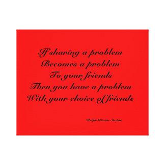友人と問題を共有すること キャンバスプリント