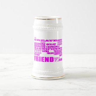 友人のためのおもしろいのギフト: すばらしい友人 ビールジョッキ
