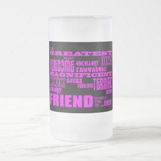 友人のためのおもしろいのギフト: すばらしい友人 フロストグラスビールジョッキ