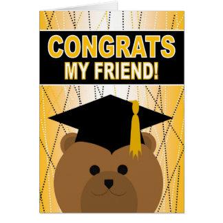 友人のための卒業のお祝い カード