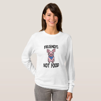 友人のない食糧かわいいブタのワイシャツ Tシャツ