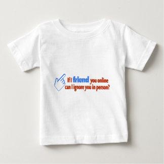 友人のオンラインは文字デザイン直々に無視します ベビーTシャツ