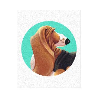 友人のバセットハウンドのTallydogの円 キャンバスプリント