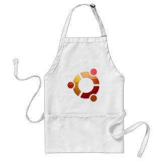 友人のロゴのUbuntuのLinuxの円 スタンダードエプロン