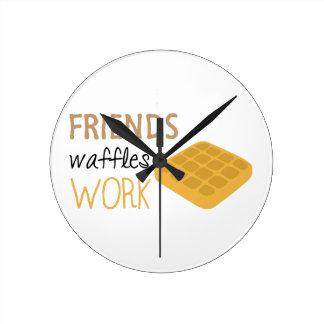 友人のワッフルの仕事 ラウンド壁時計