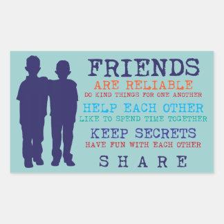 友人の友情の親友 長方形シール