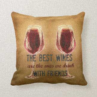 友人の枕が付いているワイン クッション
