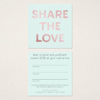 友人の紹介のサロンの顧客カード・セットを参照して下さい スクエア名刺