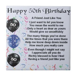 友人の詩の第50誕生日 タイル