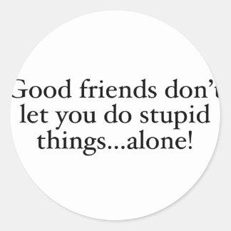 友人は単独で愚かな事許可しません ラウンドシール