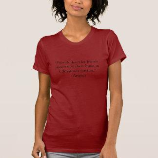 """""""友人は友人が…彼らのお尻を写真複写することを許可しません Tシャツ"""