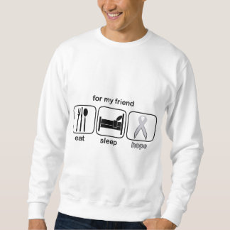 友人は睡眠の希望-肺癌--を食べます スウェットシャツ