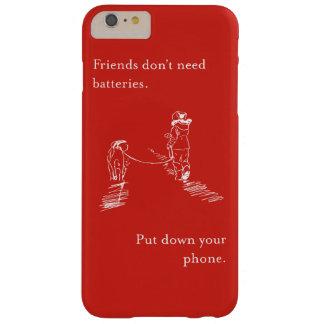 友人は電池を必要としません-場合に電話をかけて下さい BARELY THERE iPhone 6 PLUS ケース