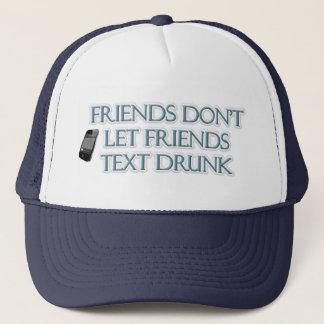 友人は飲まれる友人の文字を許可しません キャップ