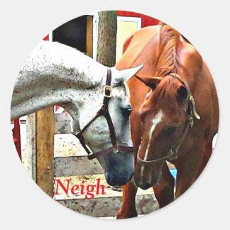 友人を作っている2頭の馬 ラウンドシール