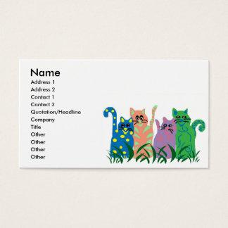 友人猫の名刺 名刺