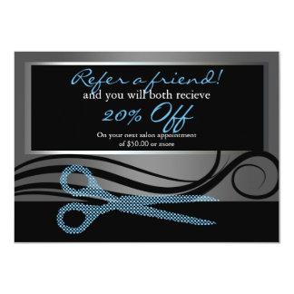 友人|のエレガントな毛の渦巻および水玉模様を参照して下さい カード